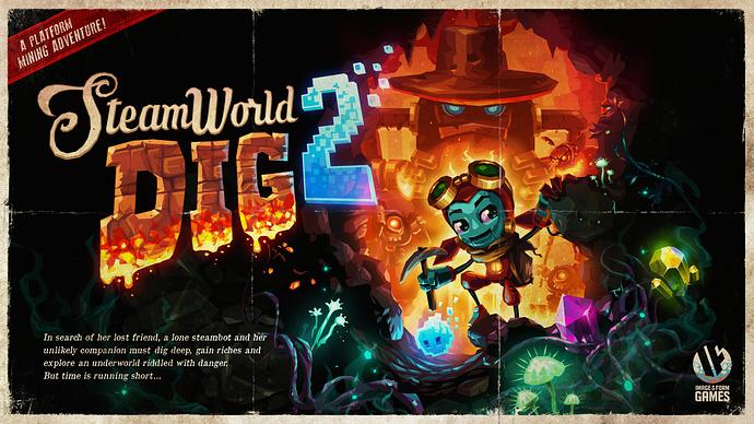 SteamWorld-Dig-2-Vintage-Poster