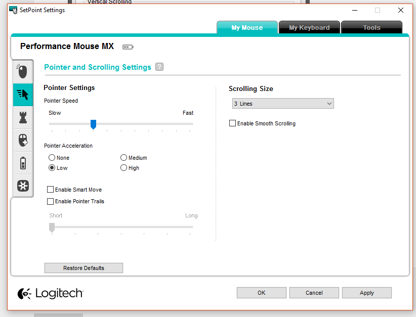 For the Logitech mouse users - how do I change scroll speed? LOL
