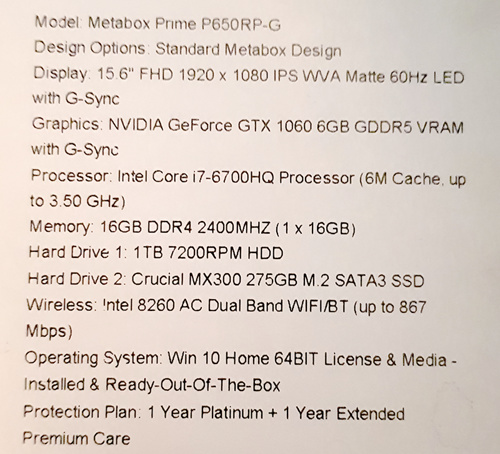 Advice re new laptop - Hardware and technical stuff