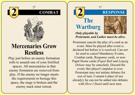 Combat and Response Cards